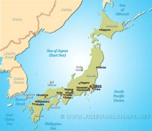 Japan Physical Map - Japan map labeled