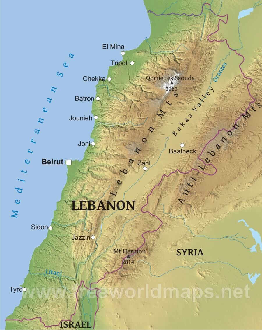 Pictures Of Physical Features In Lebanon 10