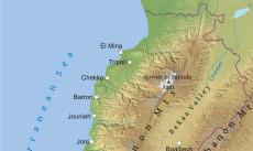 Where is Lebanon located on the World map