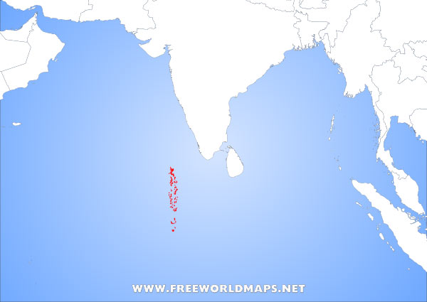Where is The Maldives located on the World map