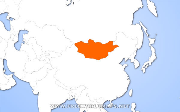 Image Gallery mongolia on world map