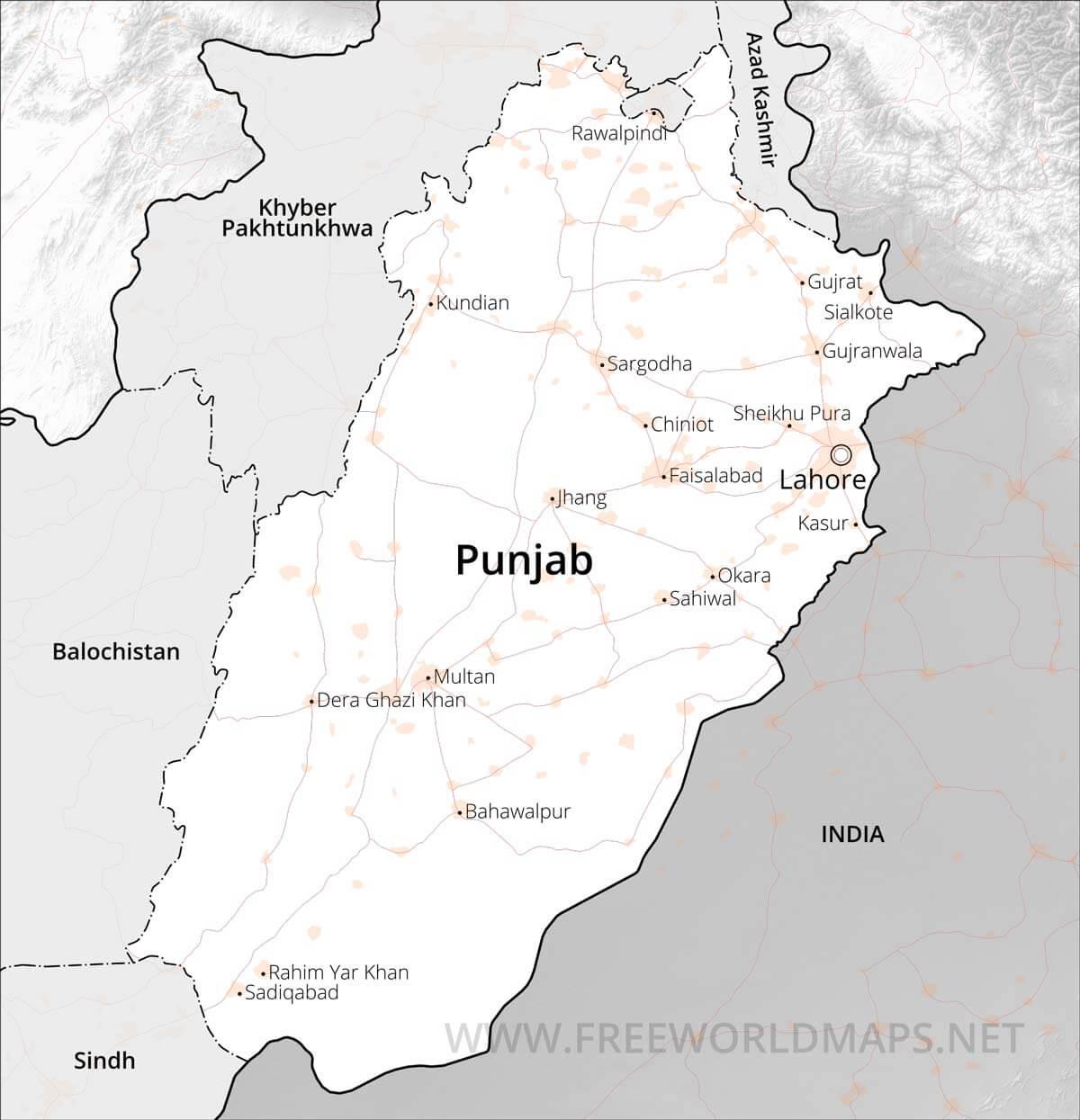 Punjab Maps