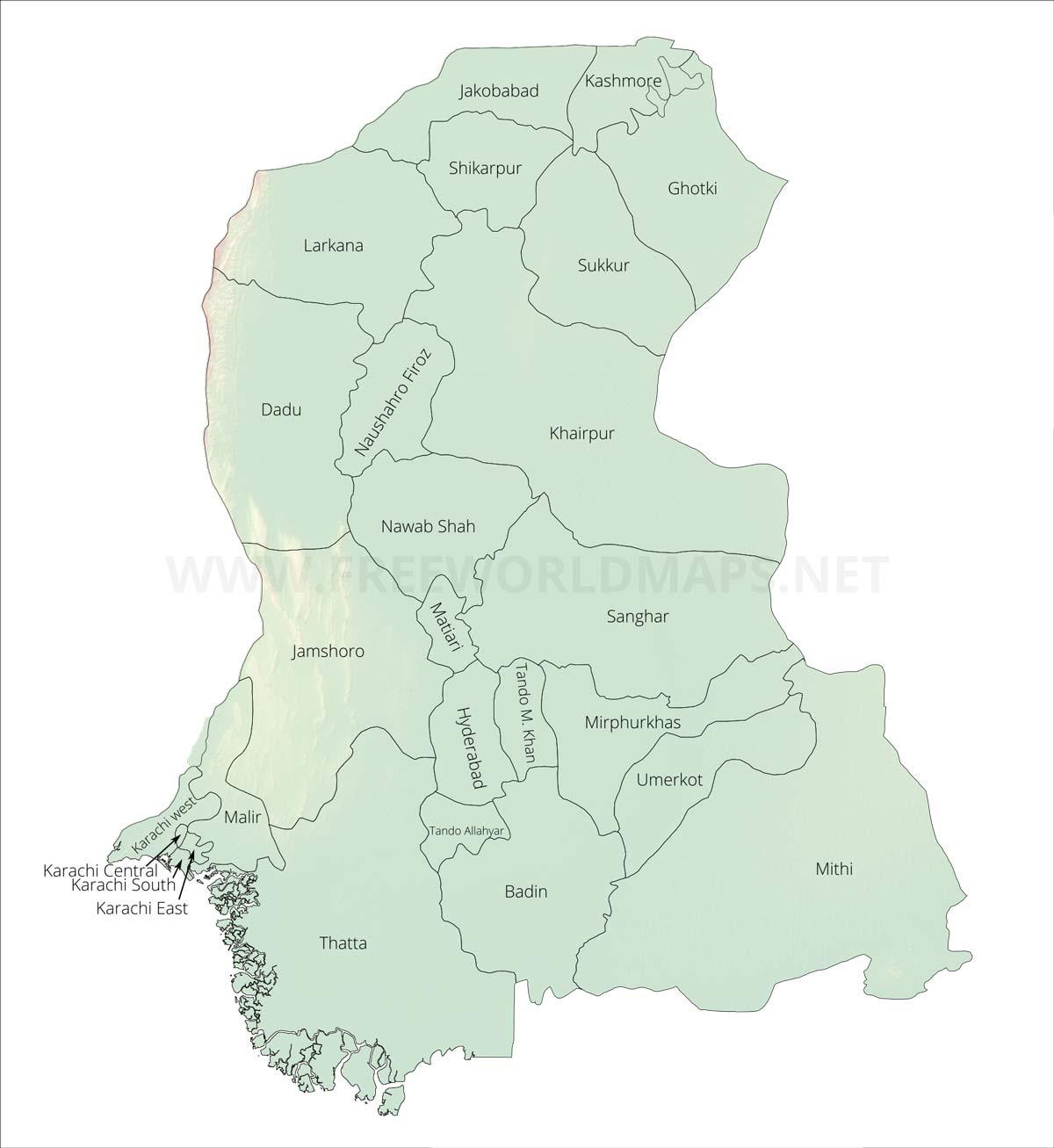 Map Of Asia Karachi.Sindh Maps