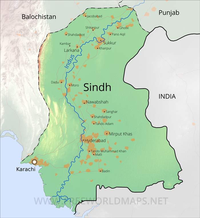 sindh maps