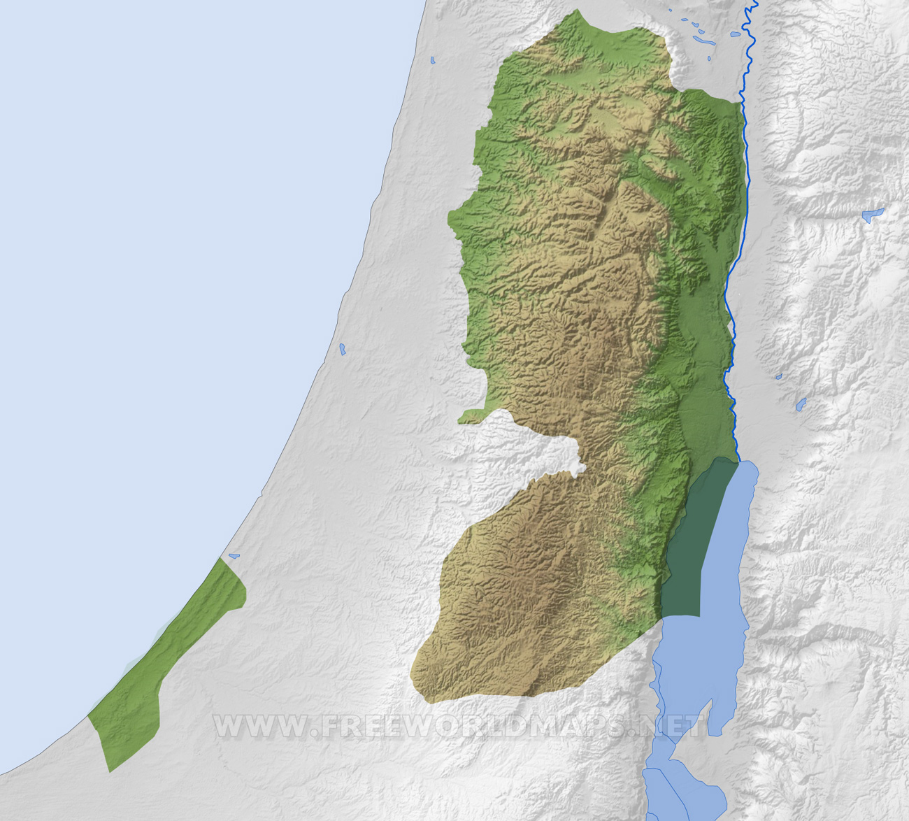 Palestine maps by freeworldmaps palestine blank map hd gumiabroncs Images