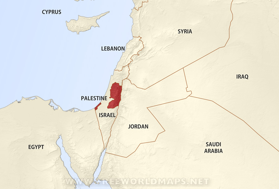 Palestine Maps By FreeWorldMapsnet - Palestine location