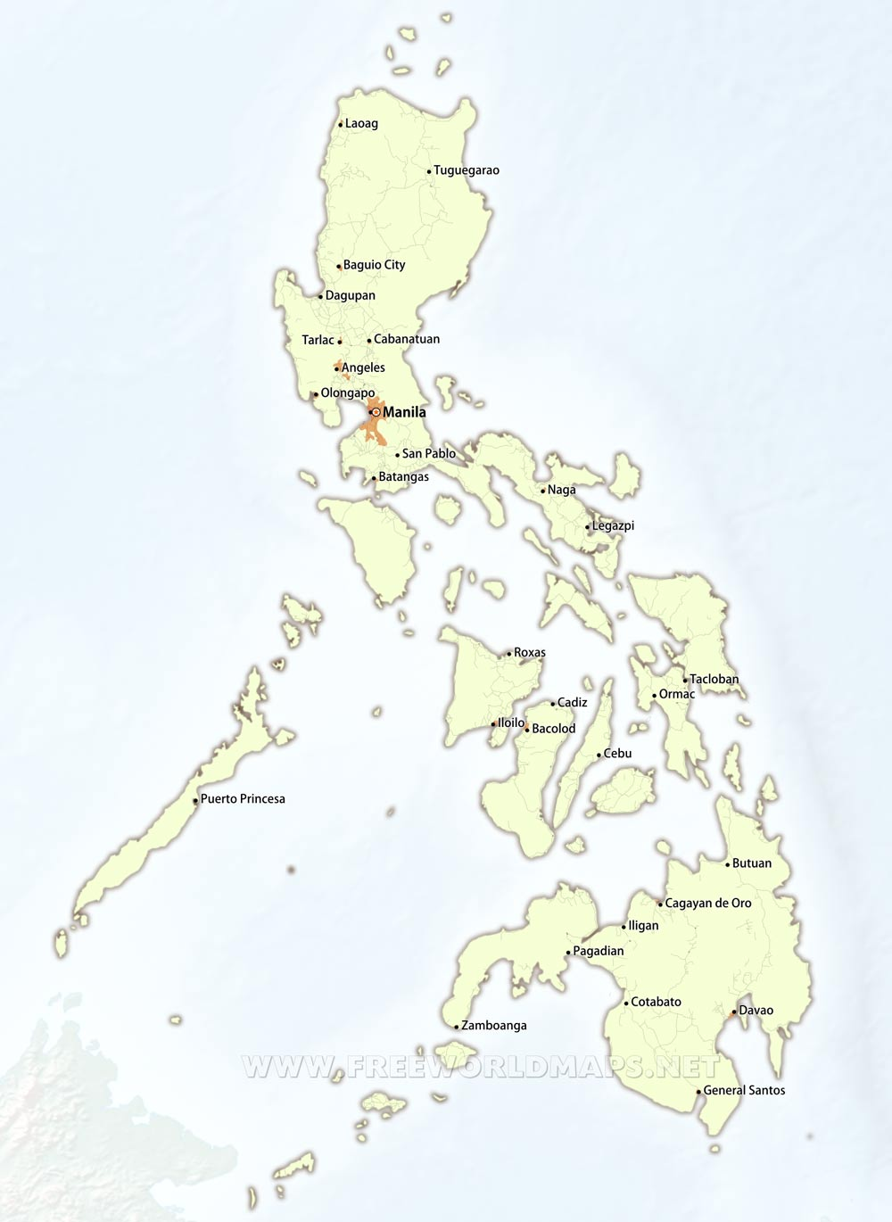Philippines Maps - Map of the philippines cities