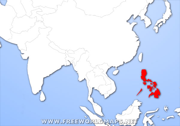 Where is Philippines located on the World map