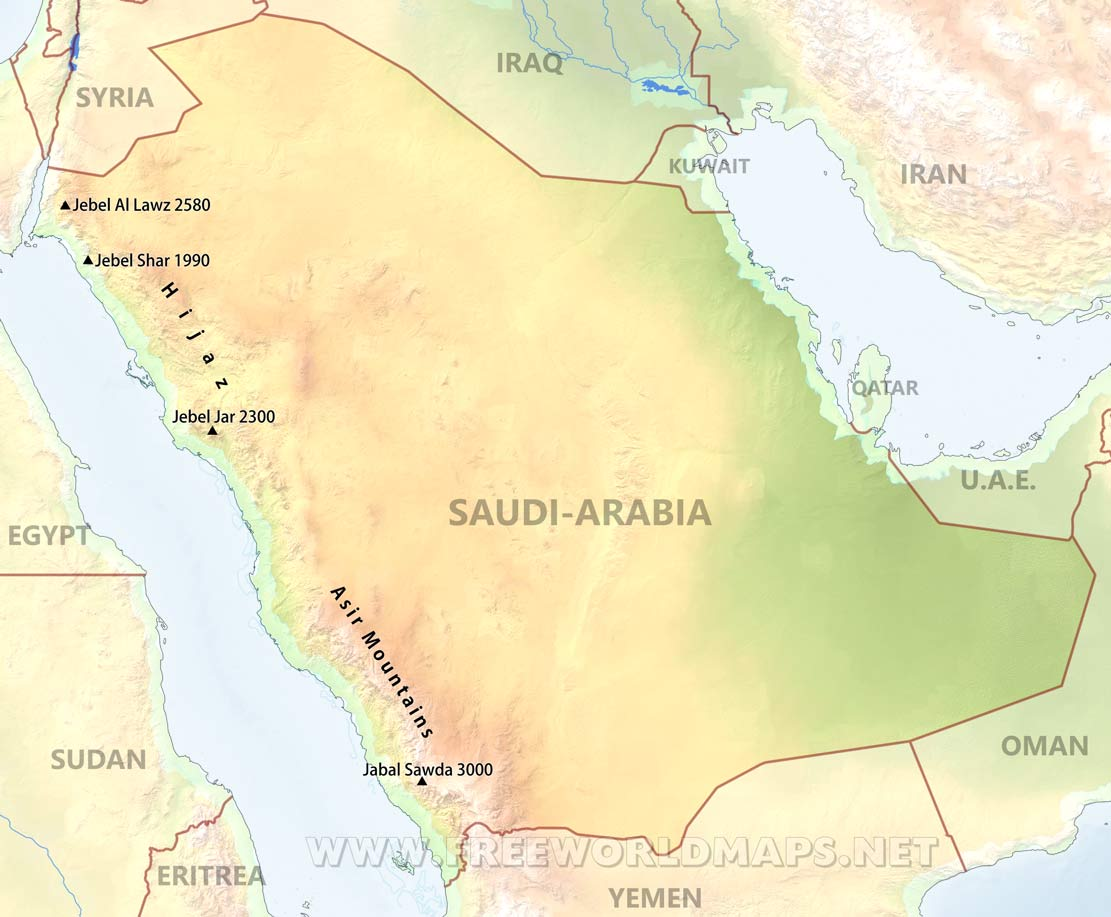 Arabia Physical Map