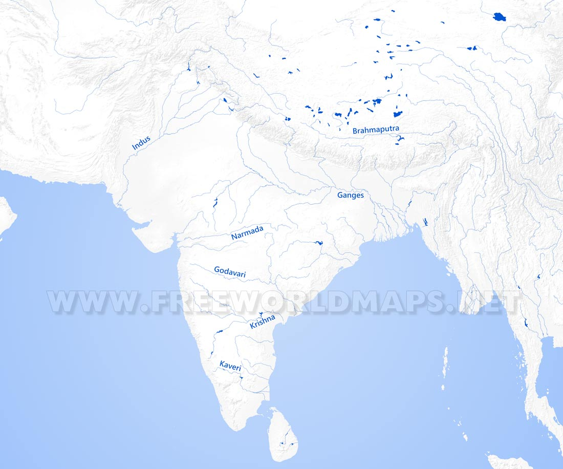 Map Of Asia Rivers.South Asia Physical Map