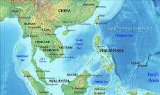 Where is South East Asia located on the World map?