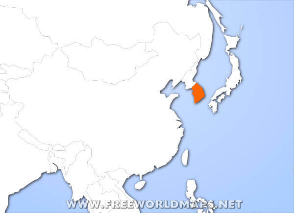 Where Is South Korea Located On The World Map