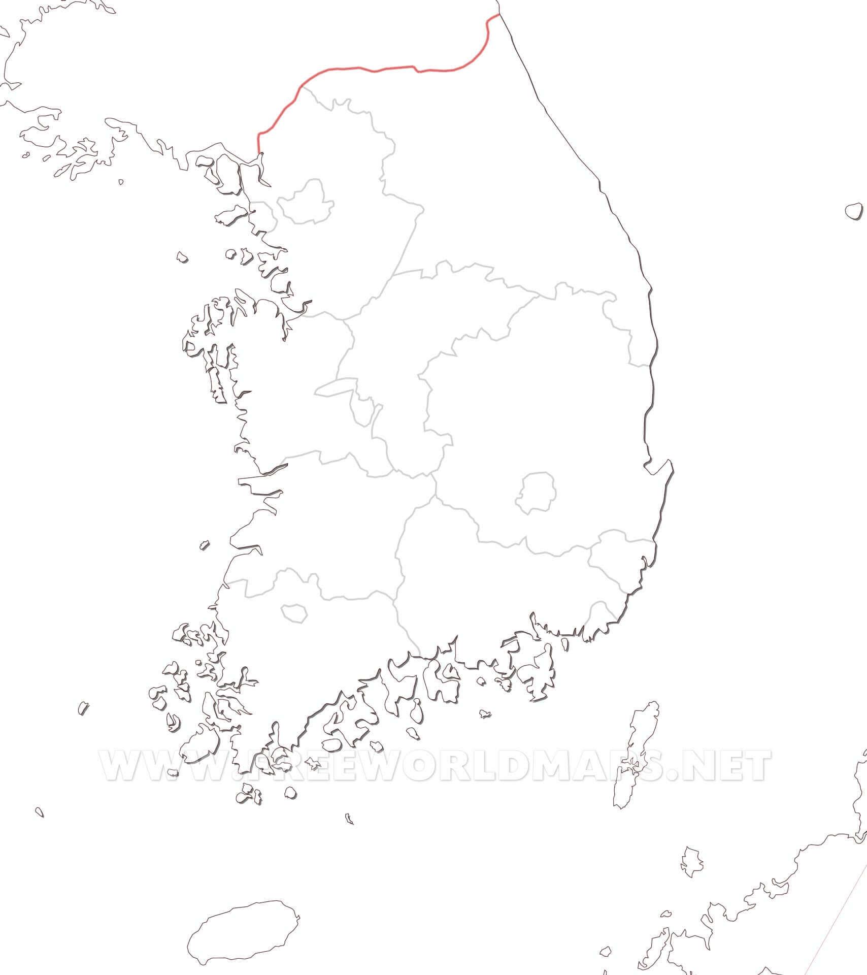 South Korea blank map - HD blank map of South Korea South Korea ...