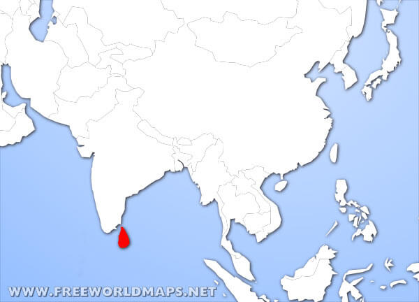 Where is sri lanka located on the world map sri lanka location in asia gumiabroncs Images