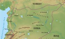 Where is syria located on the world map physical map of syria publicscrutiny Gallery