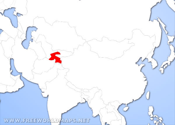 Where is Tajikistan located on the World map?