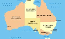 Australia Map Political.Australia Physical Map Freeworldmaps Net
