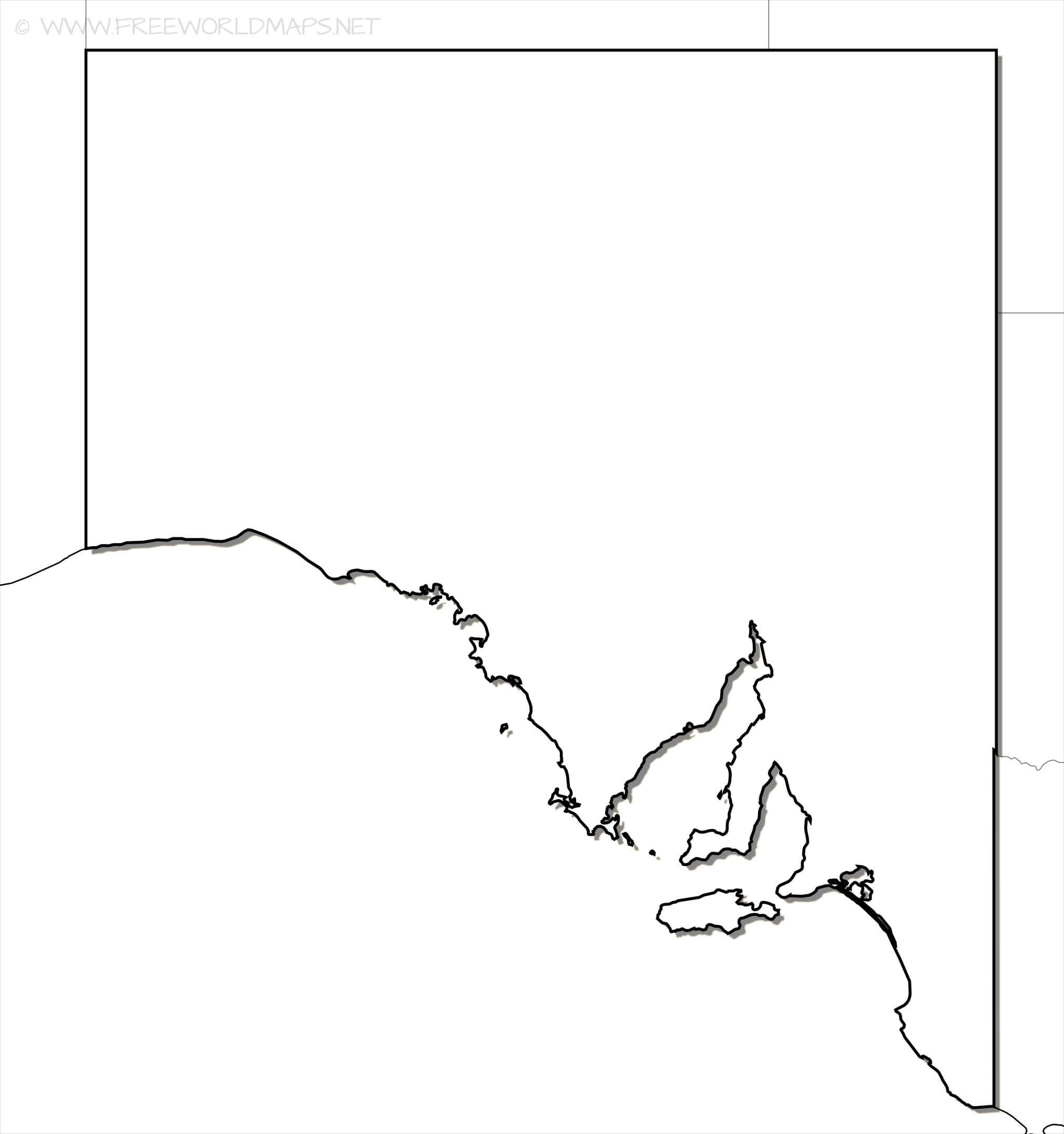 south australia outline map hd