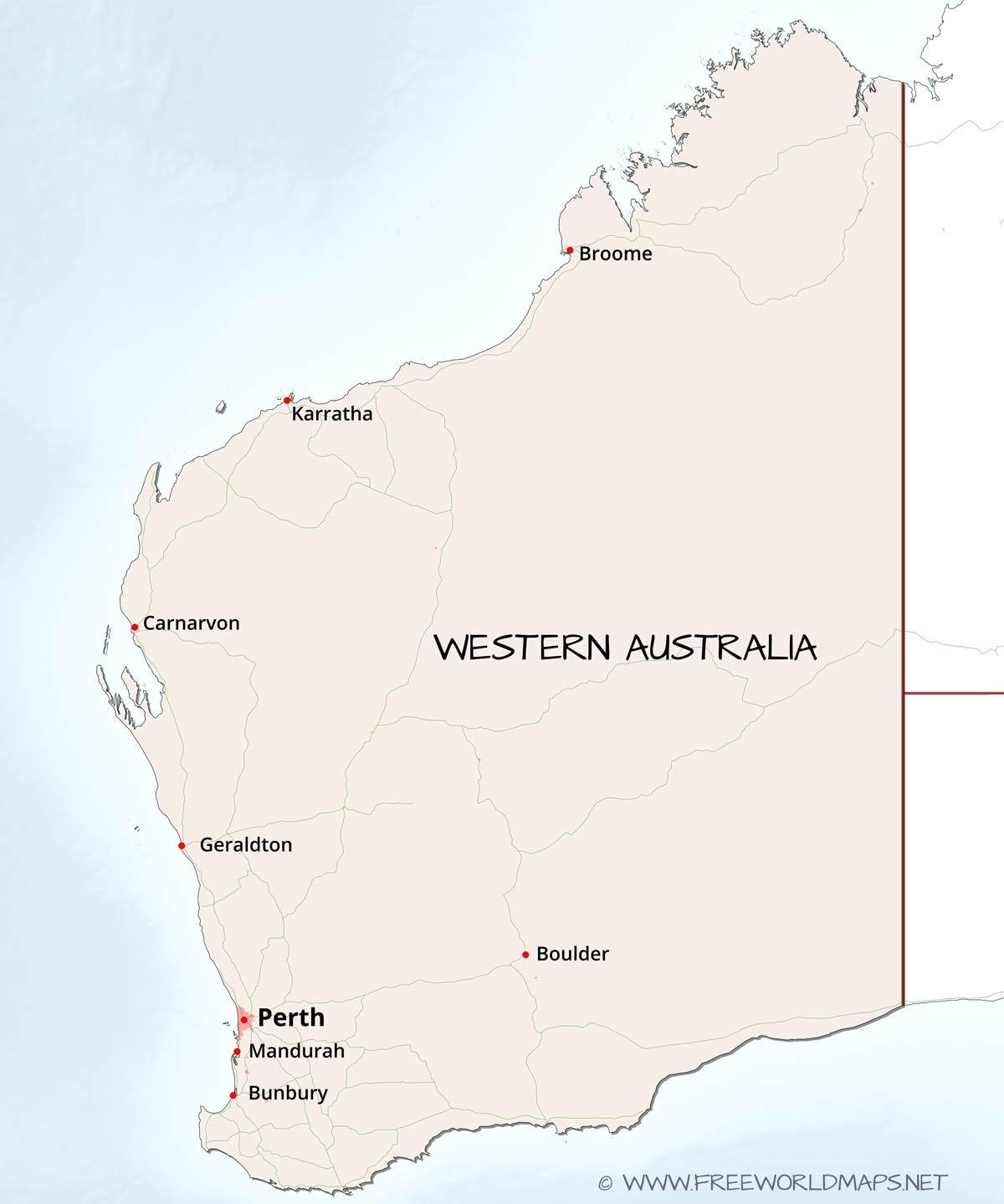 Western Australia maps