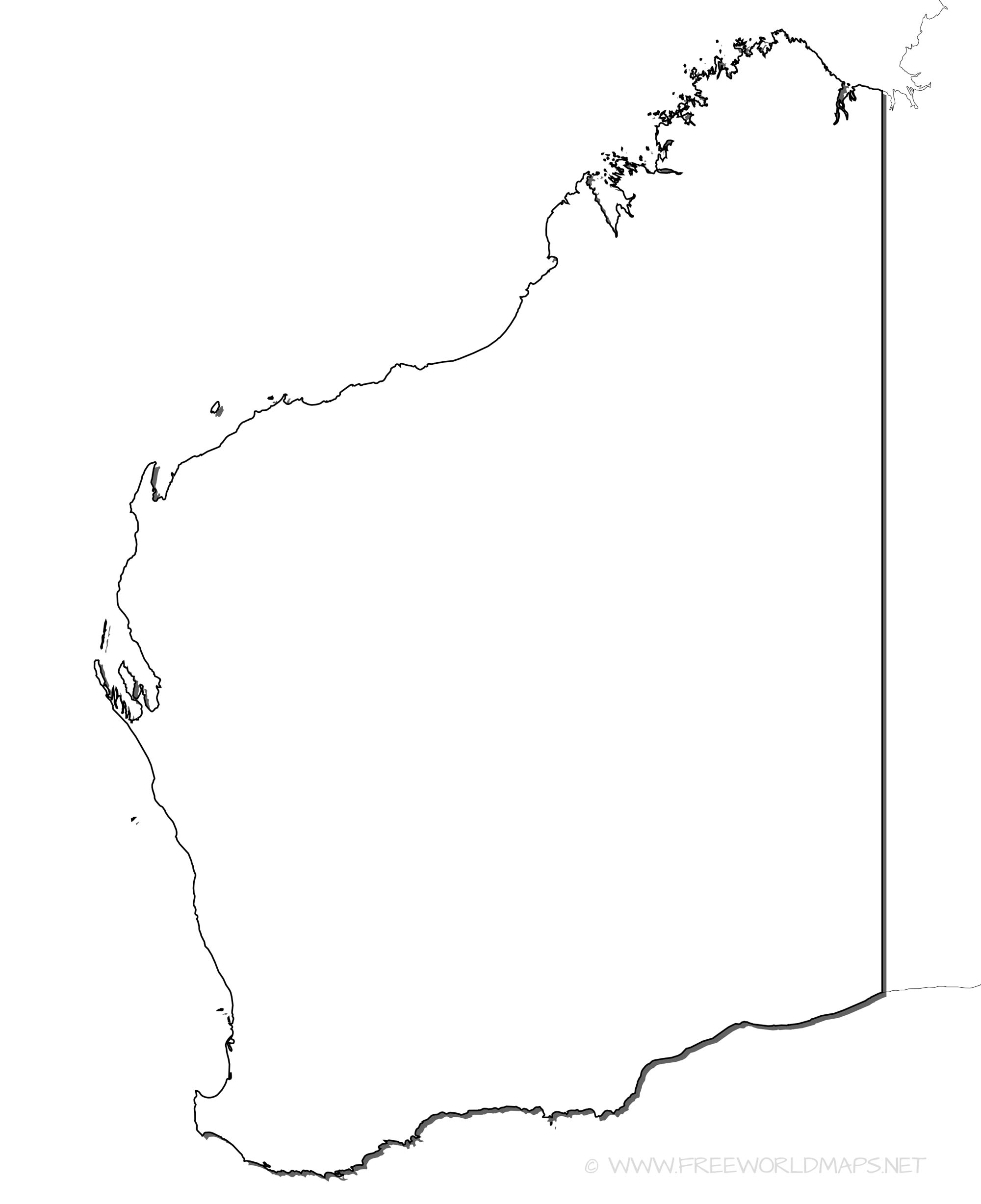 Western Australia Maps - Printable map of western australia