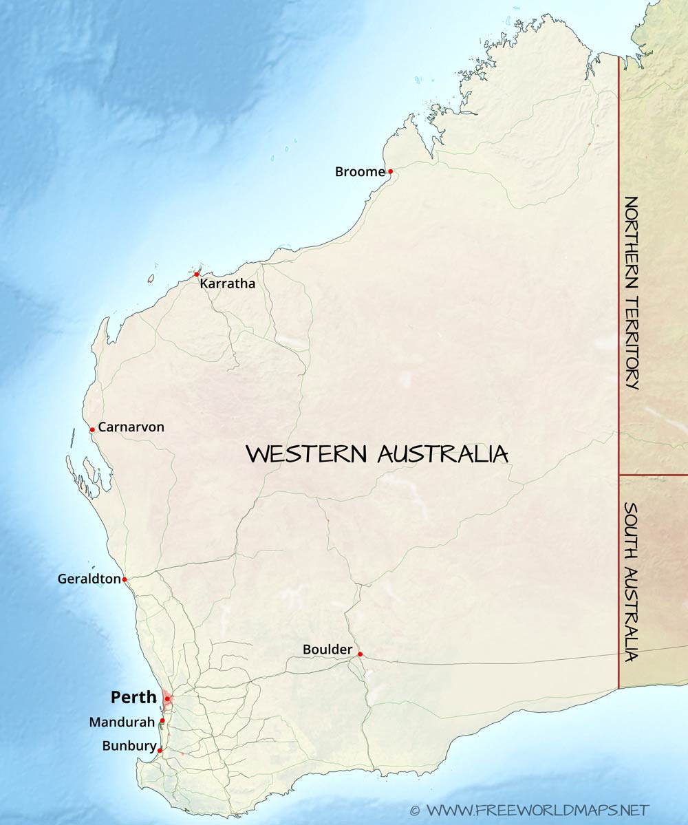 Australia Map Karratha.Western Australia Maps