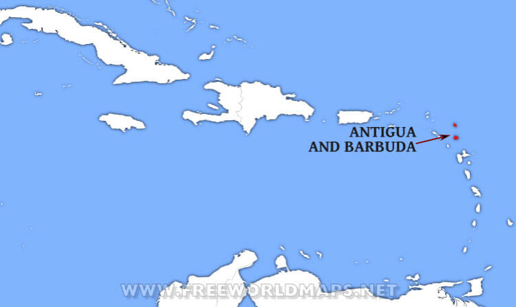 Where is Antigua and Barbuda located on the World map?