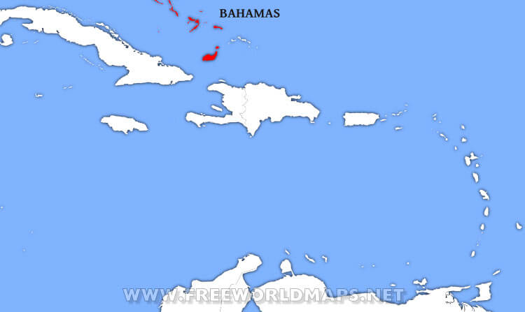 Where is Bahamas located on the World map