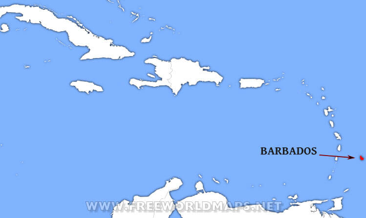 Where Is Barbados Located On The World Map - Barbados map