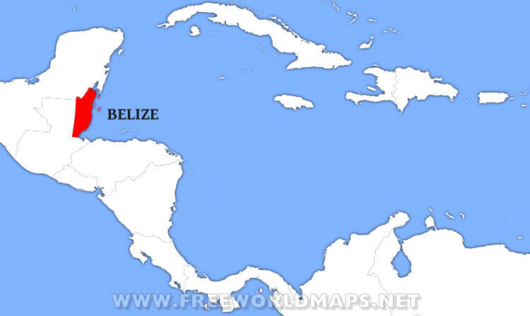 Where is Belize located on the World map?