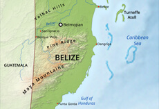 Belize Political Map.Belize Political Map