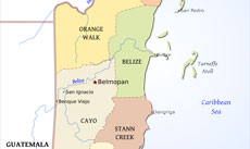 Belize Political Map.Belize Physical Map