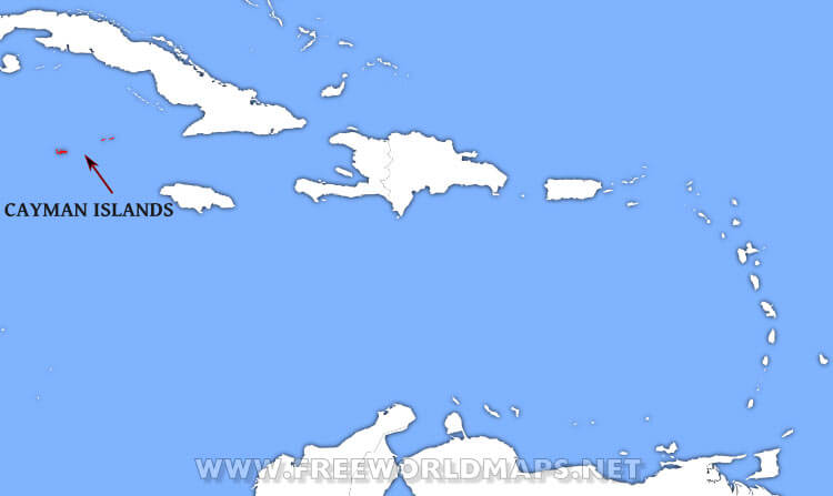 Where is Cayman Islands located on the World map