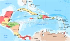 Where is Central America located on the World map?