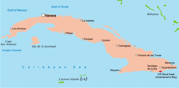 Cuba Political Map - Cuba us map