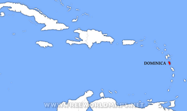 Where is Dominica located on the World map