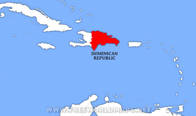 Marvelous Dominican Republic Location Map