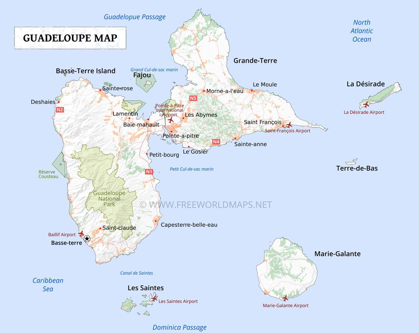 guadeloupe map. guadeloupe map geographical features of guadeloupe of the