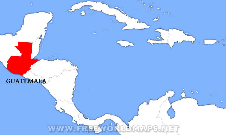 Where is Guatemala located on the World map?