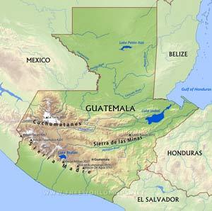 Guatemala Maps FreeWorldMapsnet - Guatamala map