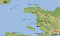 Where Is Haiti Located On The World Map - Physical map of haiti