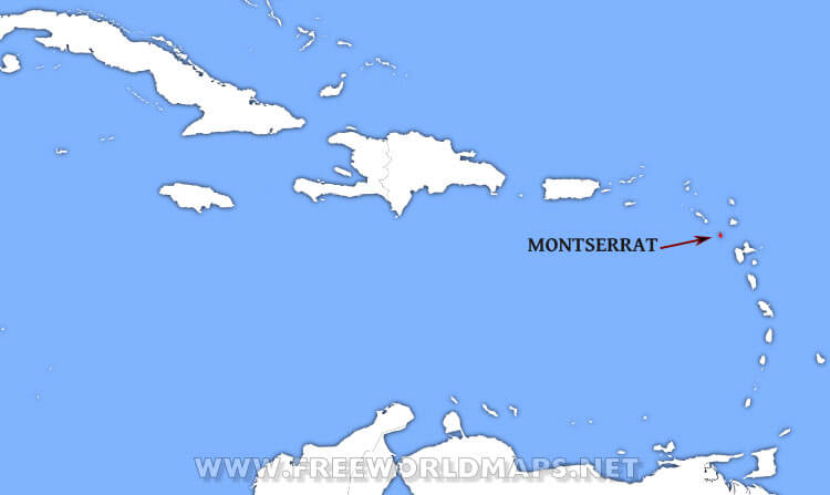 Where Is Montserrat Located On The World Map - Montserrat map