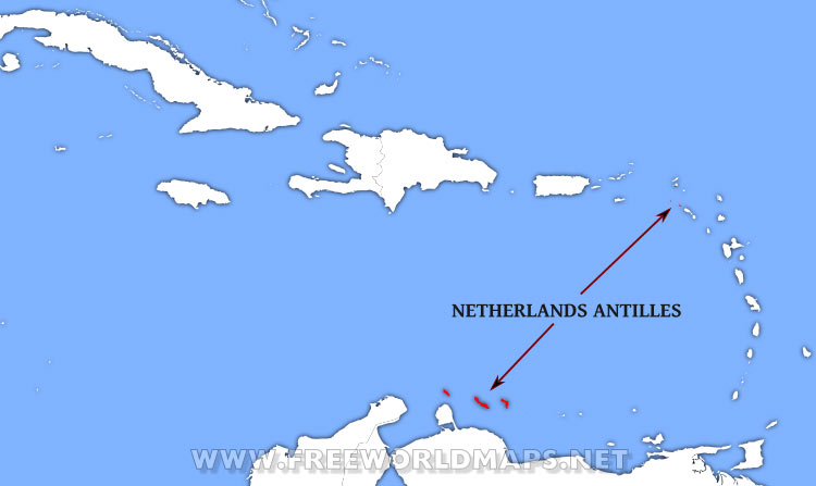 Where Is Netherlands Antilles Located On The World Map