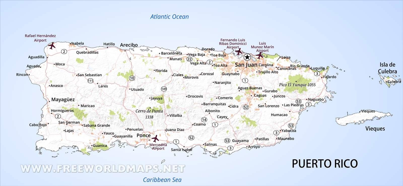 Puerto Rico Map Geographical Features Of Puerto Rico Of The - Puerto rico maps