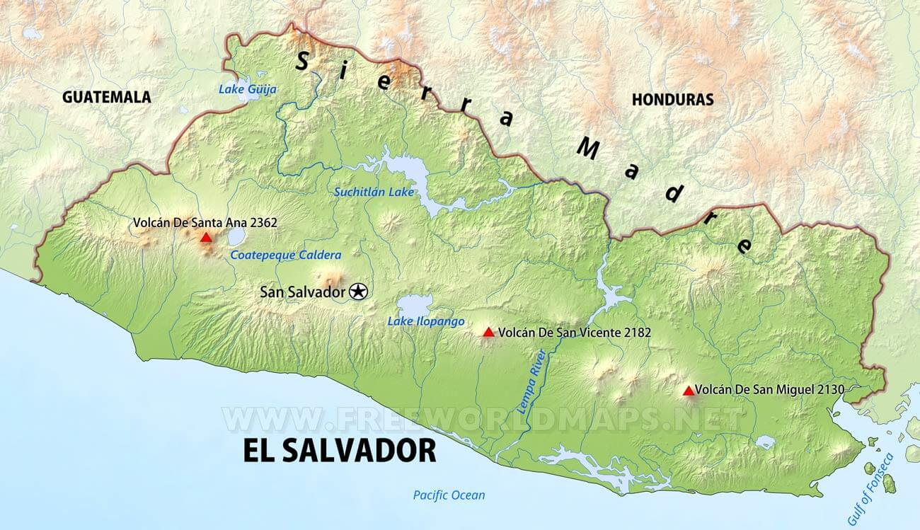 Salvador Physical Map