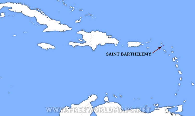 Saint Barthélemy Location Map