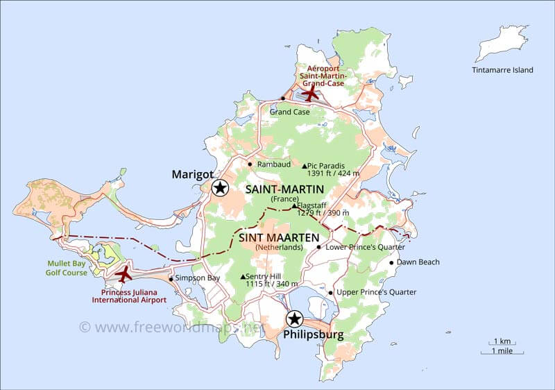 St Martin On World Map.Where Is Saint Martin Located On The World Map