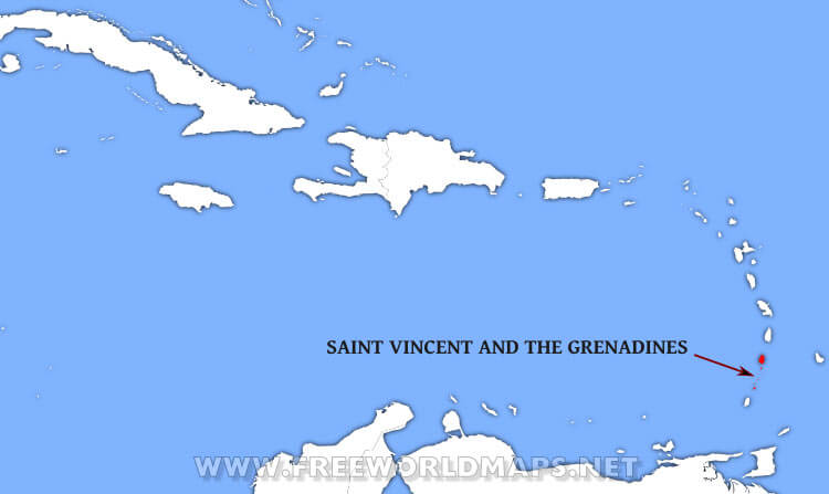Where is Saint Vincent and the Grenadines located on the World map