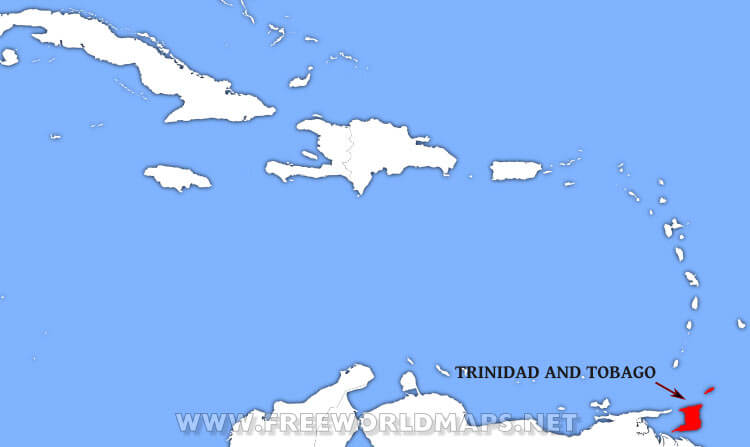 Where is Trinidad and Tobago located on the World map?