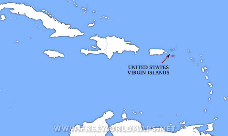 united states virgin islands location map