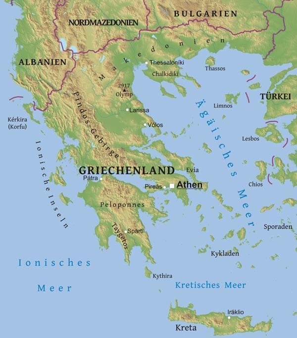 Karte Griechenland.Karte Von Griechenland Freeworldmaps Net